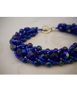SOLD! Cobalt Blue Flat Spiral Weave Bracelet - $30.00