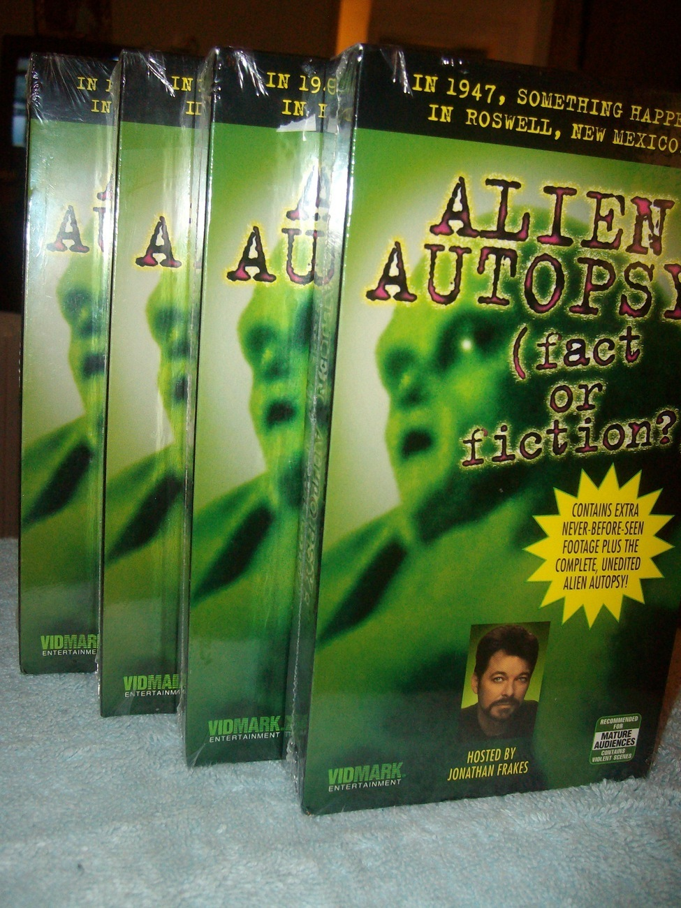 Four VHS Tapes Alien Abduction all Identical