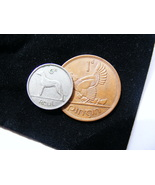 Authentic Lucky Irish Wedding Coins - A Sixpence And A Penny In A Plush Velvet P - $9.99
