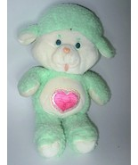 "Care Bear Cousins Gentle Heart Lamb Vintage 13"" Plush Stuffed Animal Mint Green"