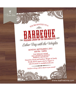 BBQ Invitation - Elegant Paisley - Barbeque, Barbecue, Rehearsal Dinner, Shower