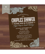 Bridal Shower Invitation - Elegant Paisley - Western, Country, Couples Shower
