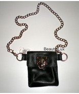 Michael Kors Black Hamilton Chain Belt Fanny Po... - $65.00