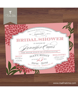 Bridal Shower Invitation - Vintage Typography -Lovely Label- Printable