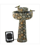 Solar Water Fountain Outdoor Wishing Well two ... - $139.55
