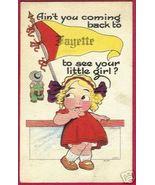 FAYETTE OHIO Pennant Girl 1915 Postcard Witt - $8.00