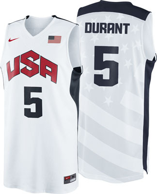 Brand New Kevin Durant #5 USA 2012 Olympic Basketball Team Swingman Jersey S-XXL