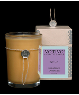 Vovivo Aromatic Glass Candle - Breath of Lavender, No. 14