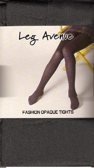 GRAY OPAQUE TIGHTS ONE SIZE ADULT leg avenue
