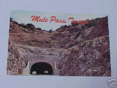 1950s Photo Postcard Mule Pass Tunnel Bisbee AZ Bonanza