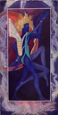 Artistic sagittarius zodiac sign poster