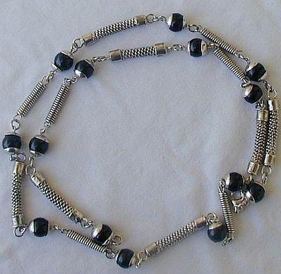 Maskit onyx and metal necklace Bonanza