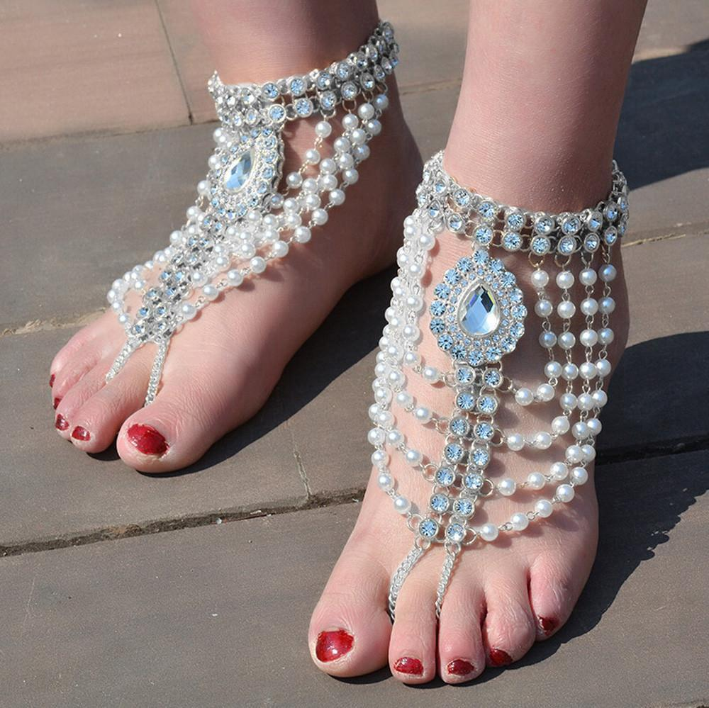 1PC Female Simple Fashion Family Name Wind Anklet Coin Fringed Anklets - Silver - one-size