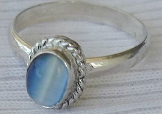 Mini light blue ring Bonanza