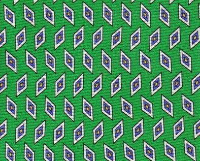 Roundtree & York Tie Mens Necktie Silk Green Blue Print NWOT Roundtree & Yorke