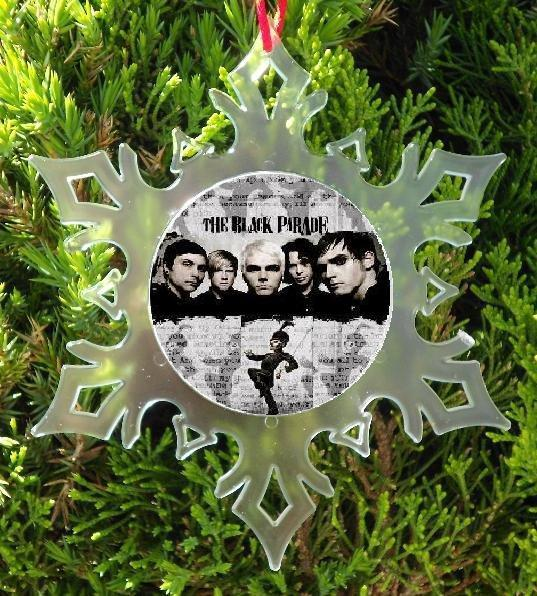 MY CHEMICAL ROMANCE CHRISTMAS  ORNAMENT - SNOW FLAKE CHRISTMAS ORNAMENT