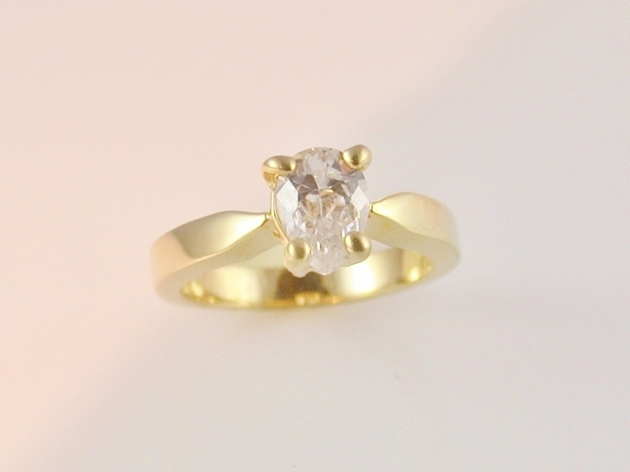 Promise Engagement Ring Diamond Faceted Solitaire La s Size 8 Rings