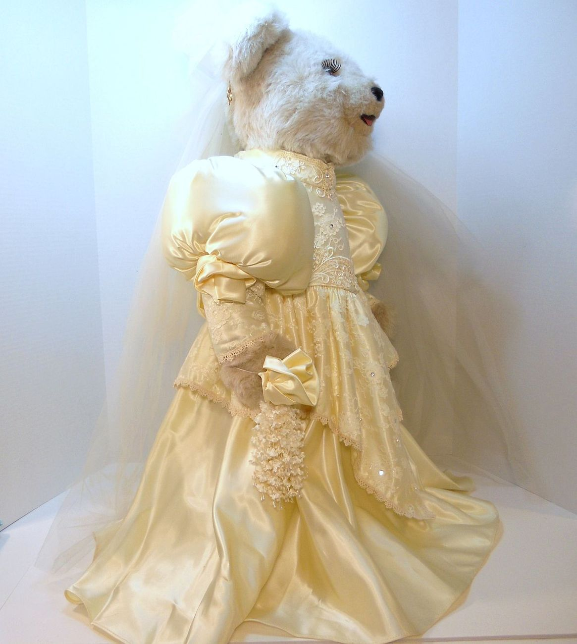 Image 1 of Tilly Collectibles Princess Nicole Wedding Bear 1990 QVC