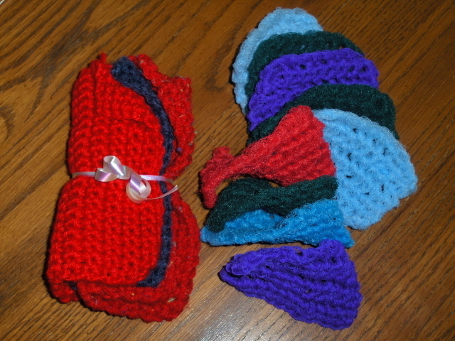 Crochet Dish Cloths And Dish Scrubby Set