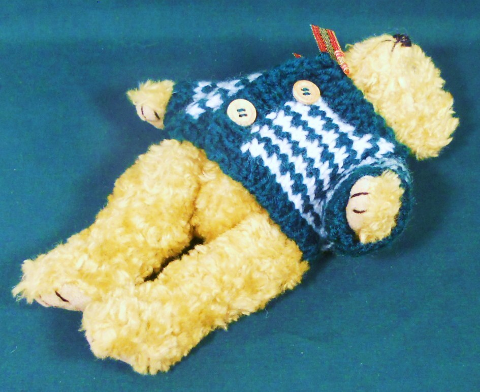 Image 4 of Holiday Teddy Bear 9 inch decorative accent gift