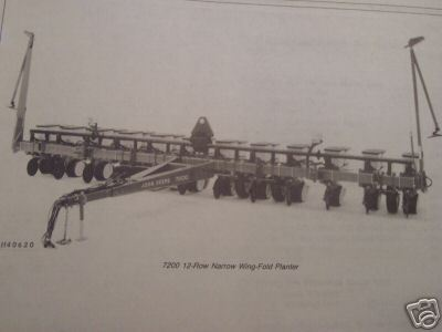 John Deere 7200 Wing Fold 8-Row Wide,12-Row Narrow Planters Operator's Manual