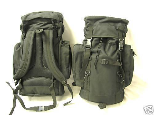 NEW - Military Mission Tactical MOLLE Survival Backpack - SWAT BLACK