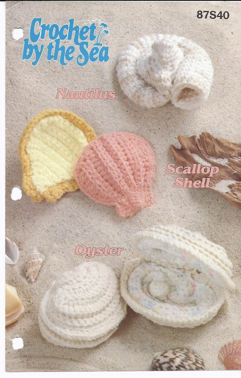 Crochet by the Sea Nautilus, Scallop Shell, Oyster Crochet Pattern~Annie's