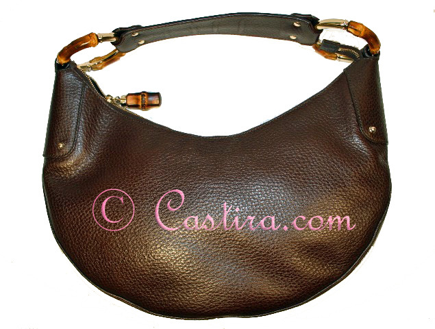 Gucci Brown Leather Hobo Bamboo Rings-tPF member Gucci