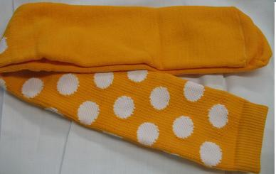 YELLOW with WHITE DOTS CLOWN SOCKS OVER KNEE SPORTS STYLE Bonanza