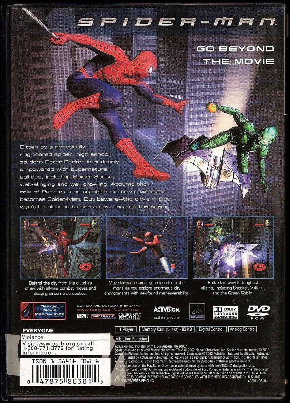 Image 1 of Spider-Man The Move PlayStation 2 video game 2002 Activision