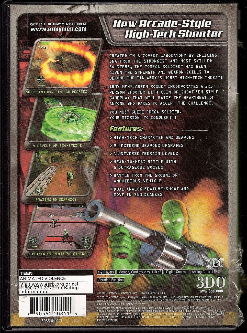 Image 1 of Army Men: Green Rogue PlayStation 2 video game 2001 by 3DO
