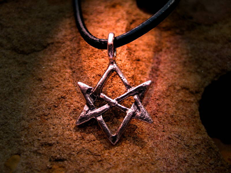 HAUNTED SPELL CAST SEAL OF SOLOMON MAGICK PENDANT RING