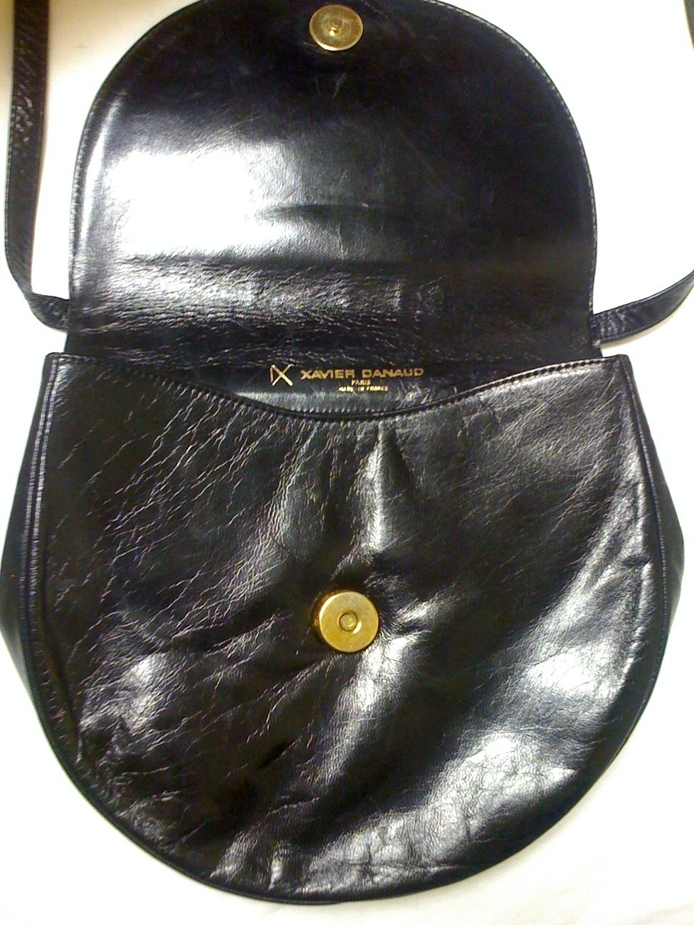 XAVIER DANAUD PARIS LEATHER CROSS BODY BAG