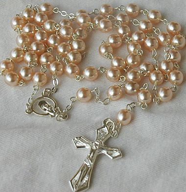 Buy Pink pearls Rosary B at AtomicMall.com