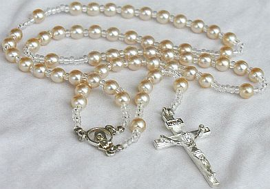 White pearls Rosary B