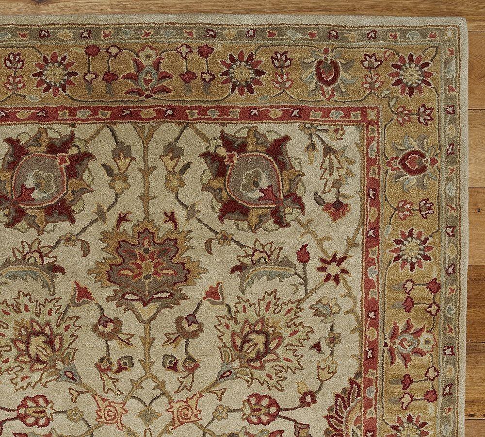 New Pottery Barn Handmade Persian Brant Area Rug 8x10