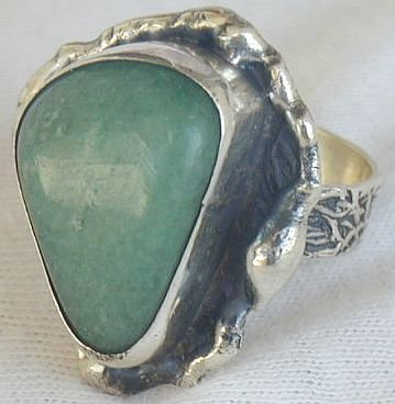 Green galss ring SR107