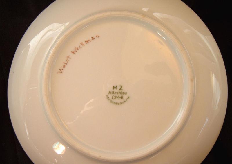 Beautiful handpainted plate mz altrohlau cmr and 50 Beautiful plates