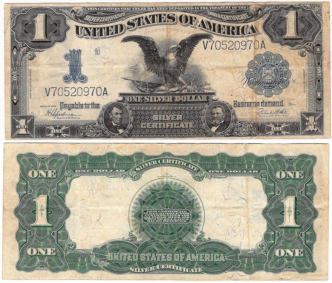 Black Eagle Silver Certificate 1899 1 dollar Fr 236 ...