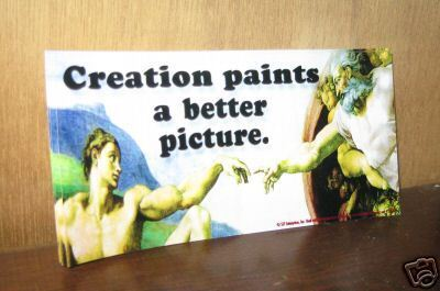 "michaelangelo Creation 8"" vinyl bumper sticker Church art"