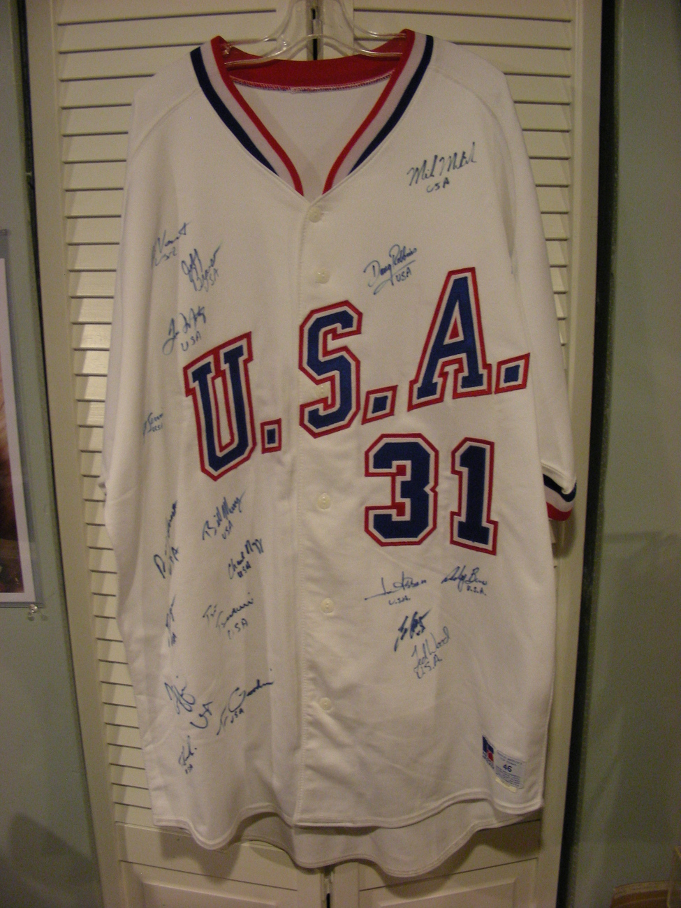 1988 OLYMPIC GOLD USA BASEBALL TEAM  20 SIGNED AUTO JERSEY PSA/DNA LETTER & SOP