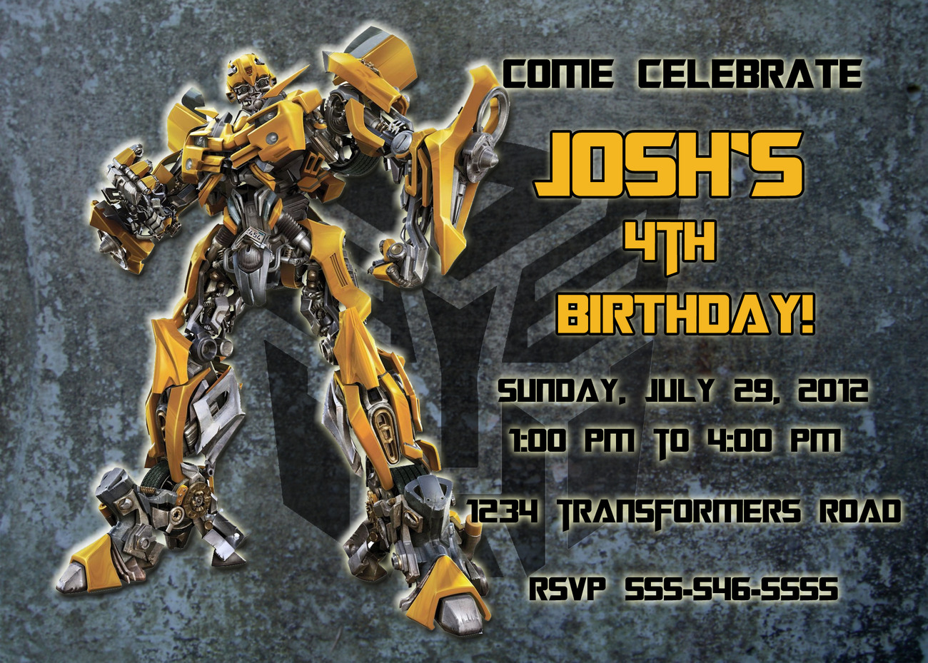 Transformer Birthday Invitations is an amazing ideas you had to choose for invitation design