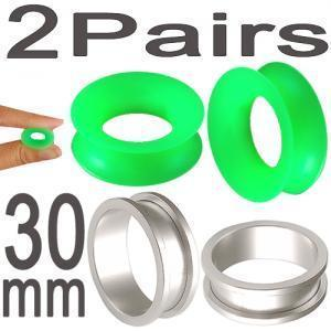 30mm gauge ear plug tunnels Stretcher Kit Ring lot BIQJ