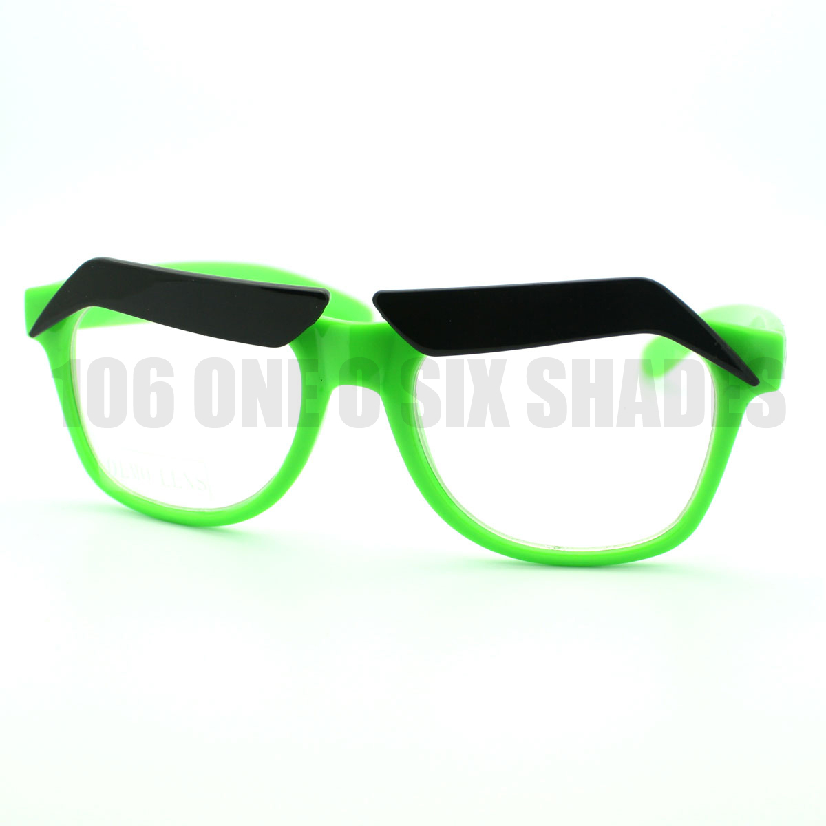 Angry Thick Eyebrow Birds Eyeglasses Frame Colorful Fun ...