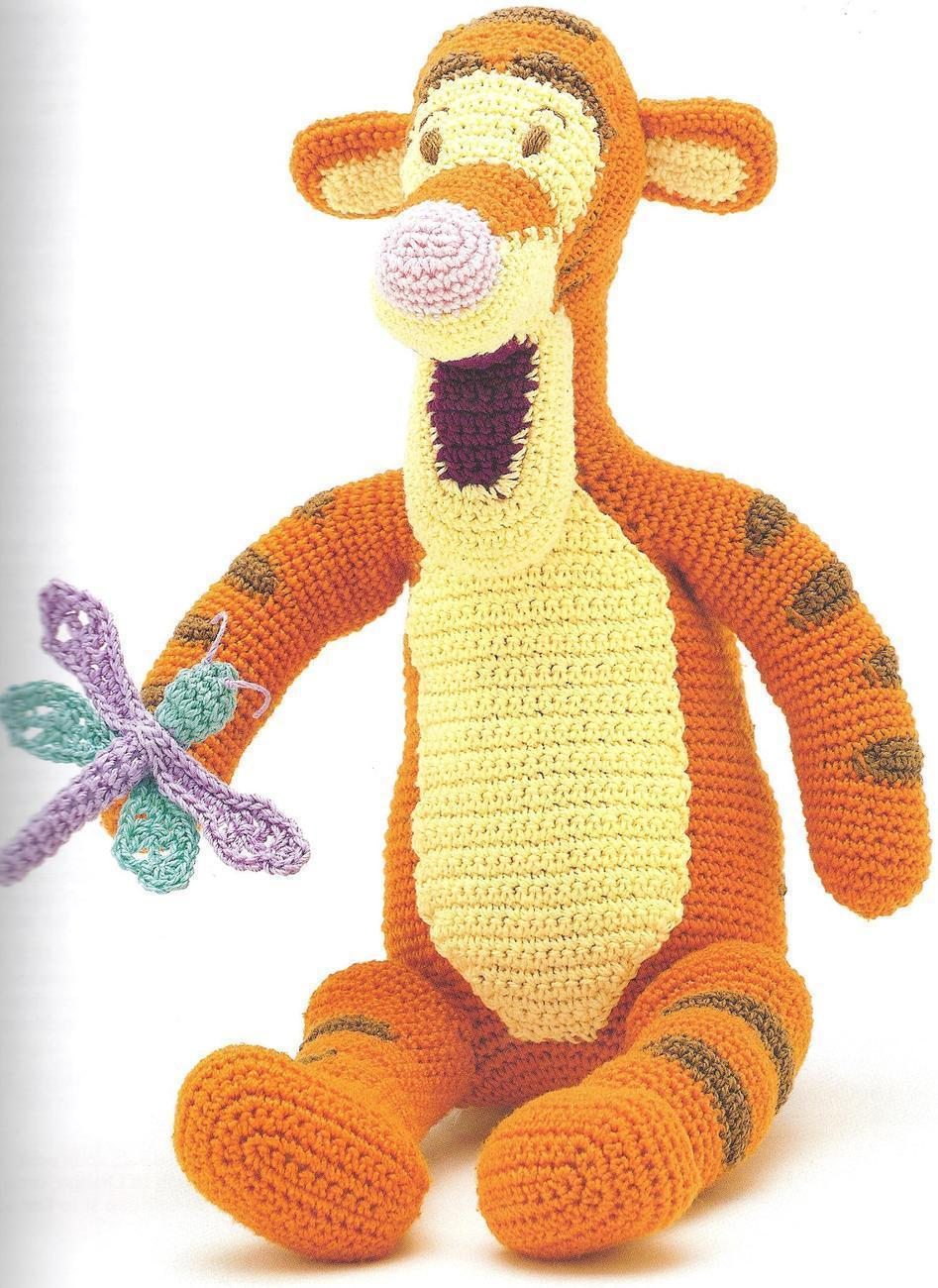 Crochet Patterns On Amazon : RARE~Disney~Pooh & Little Buddies Thread Crochet Patterns