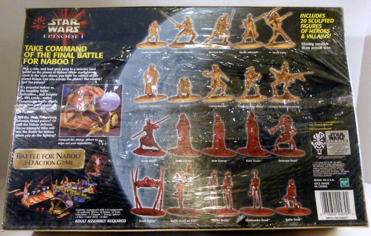 Image 1 of Star Wars Battle for Naboo 3-D action Hasbro unopened game
