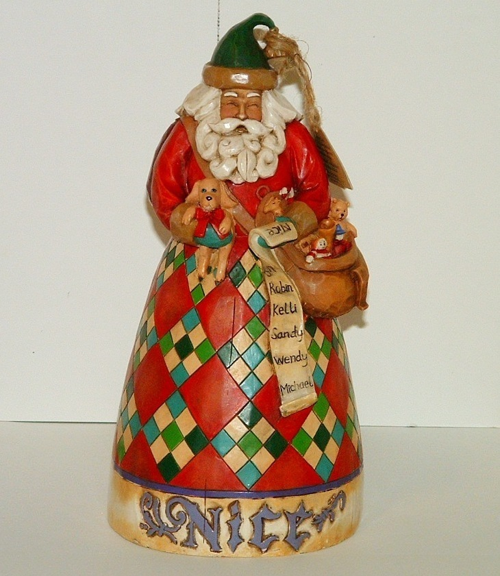 Santa Jim Shore He Knows Naughty Nice Figurine Enesco