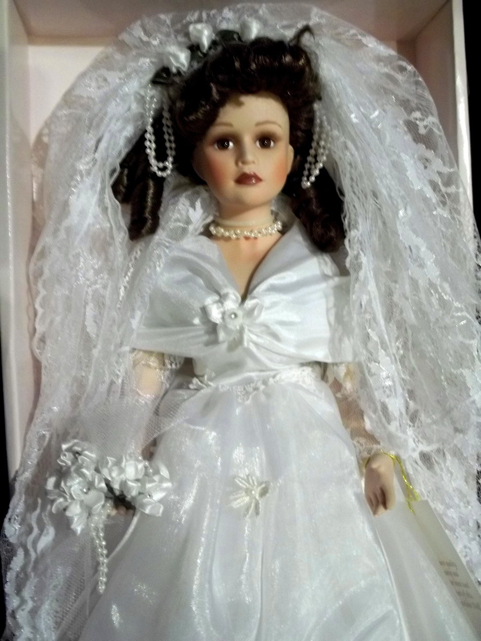 Porcelain Doll Collectible Memories Brunette Bride Shanna ...