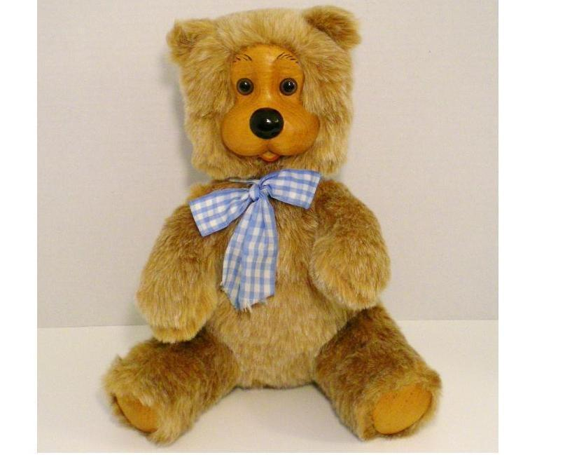 Image 0 of Robert Raikes Bears Woody Bear Joey 1987 No 4 of 50 Rare carved by R Raikes