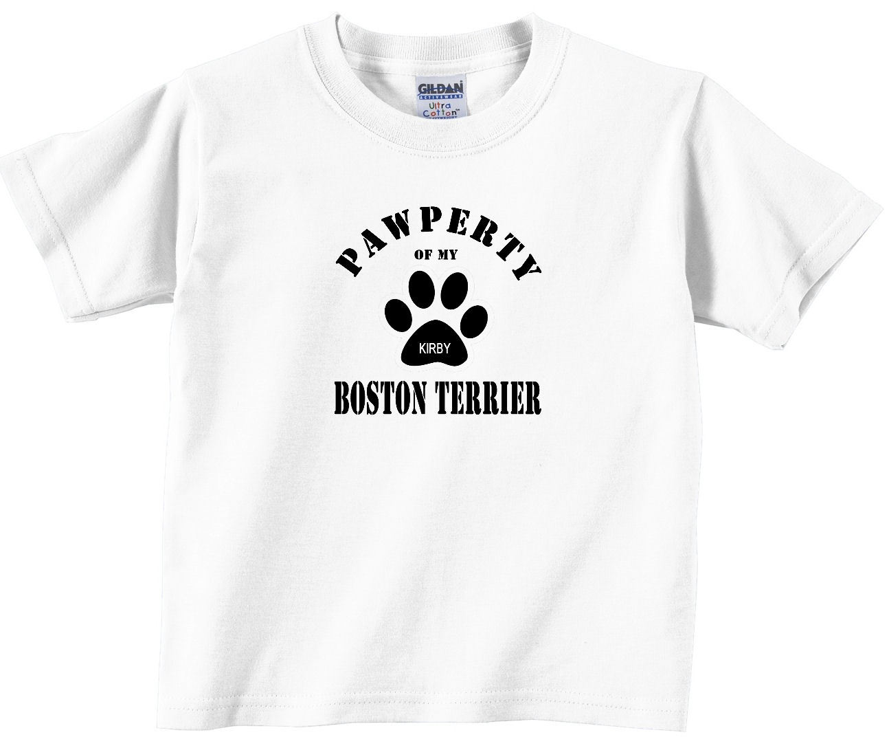 Boston terrier custom dog personalized t shirt t shirts for Custom pet t shirts